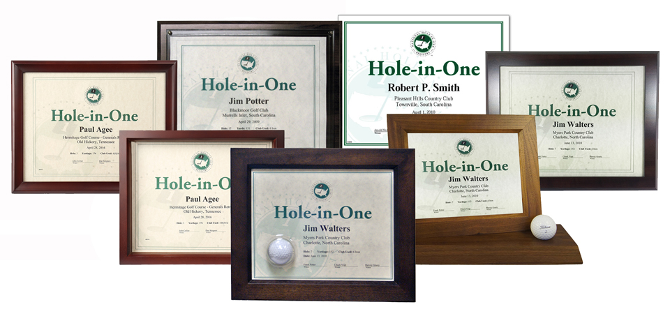 Certificates National Hole In One Registry